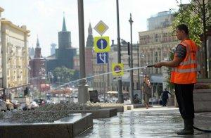 Дорожную разметку нанесут на Тверской улице в ближайшие выходные